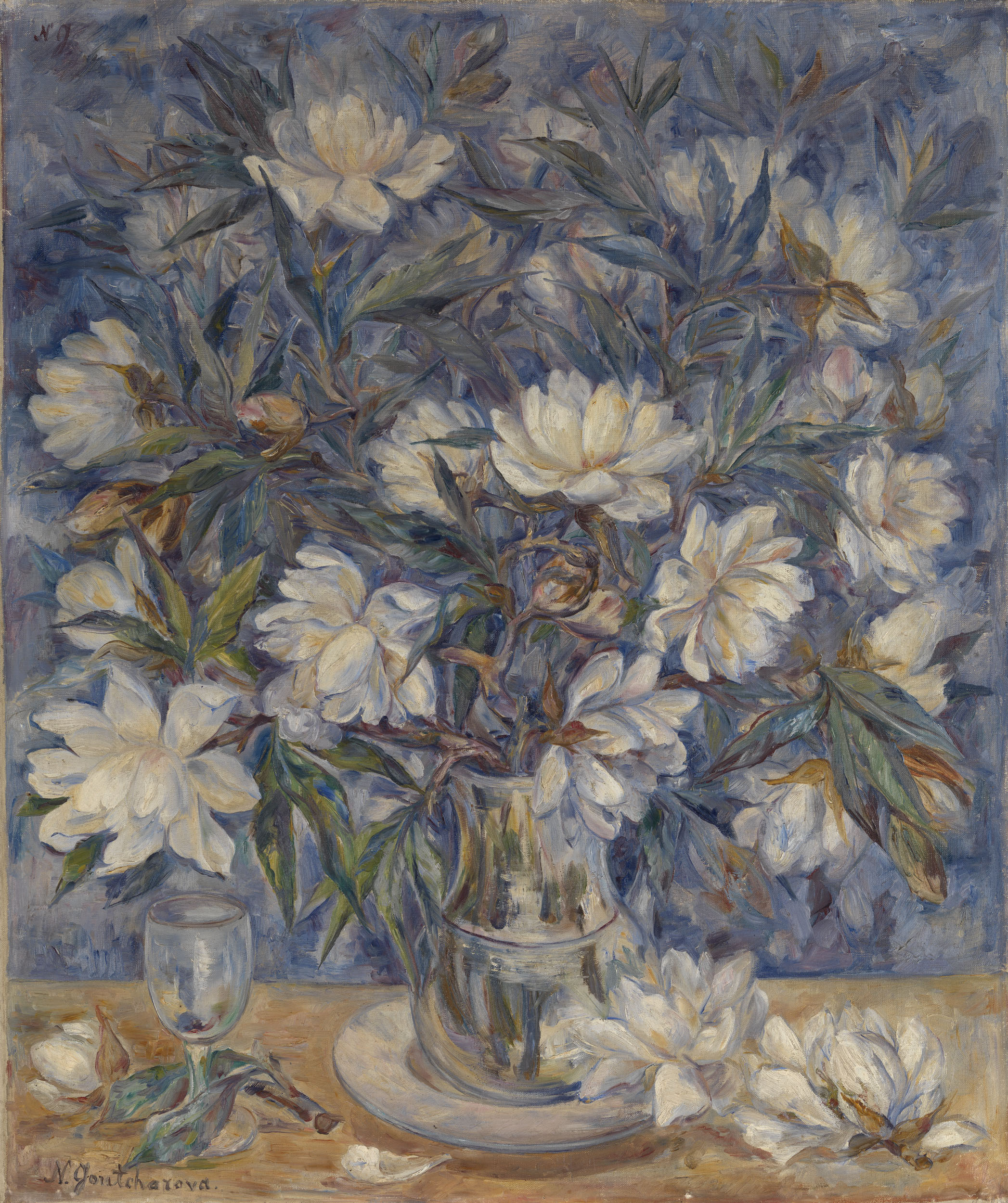 Lot 19 Natalia Goncharova, Still Life with Magnolias and a Glass