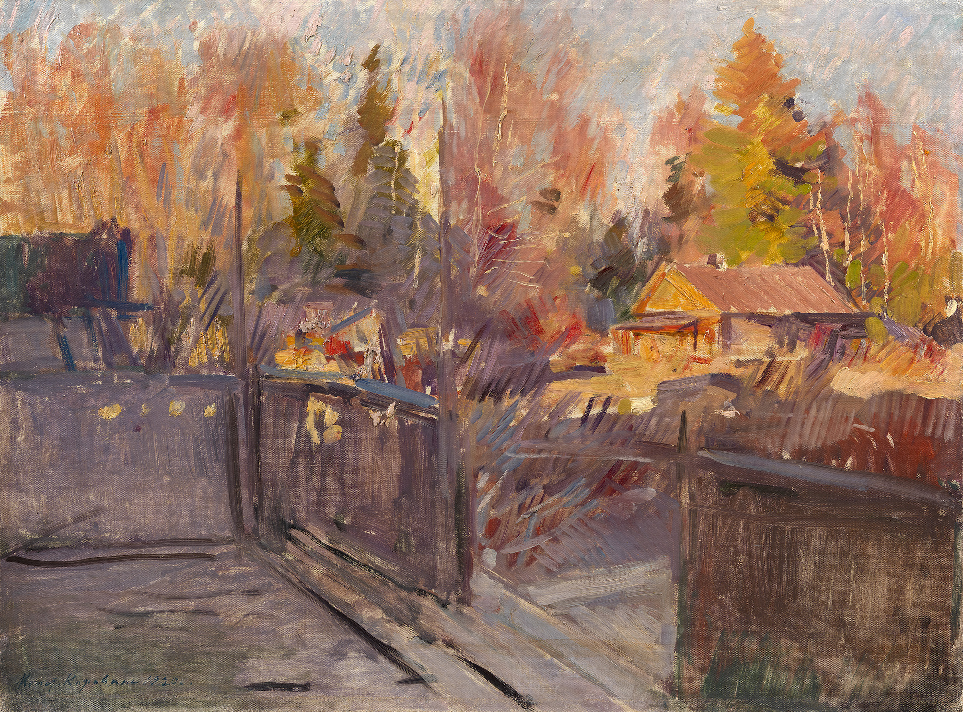 Lot 20 Konstantin Korovin, Spring in the Village