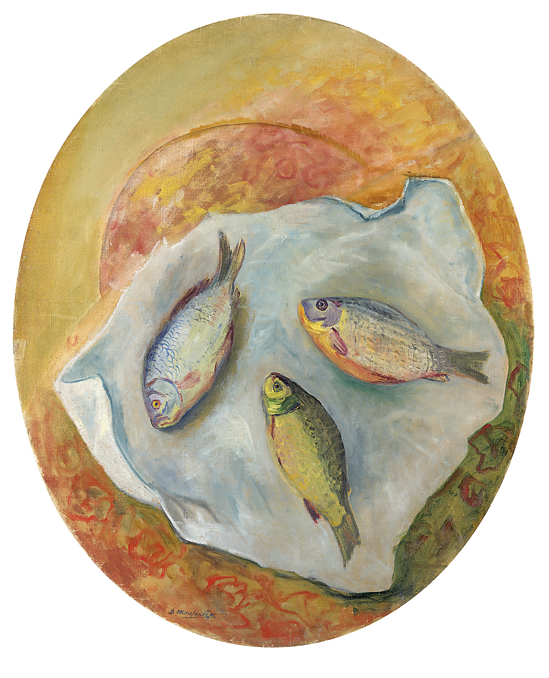 Lot 24 David Shterenberg, Still Life with Fish