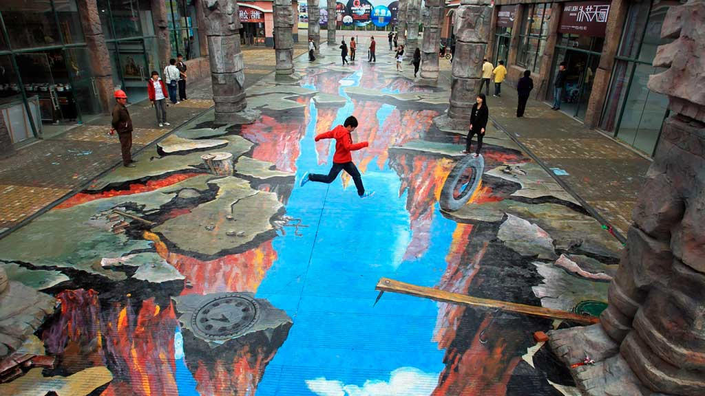 Видео рисунки на улице