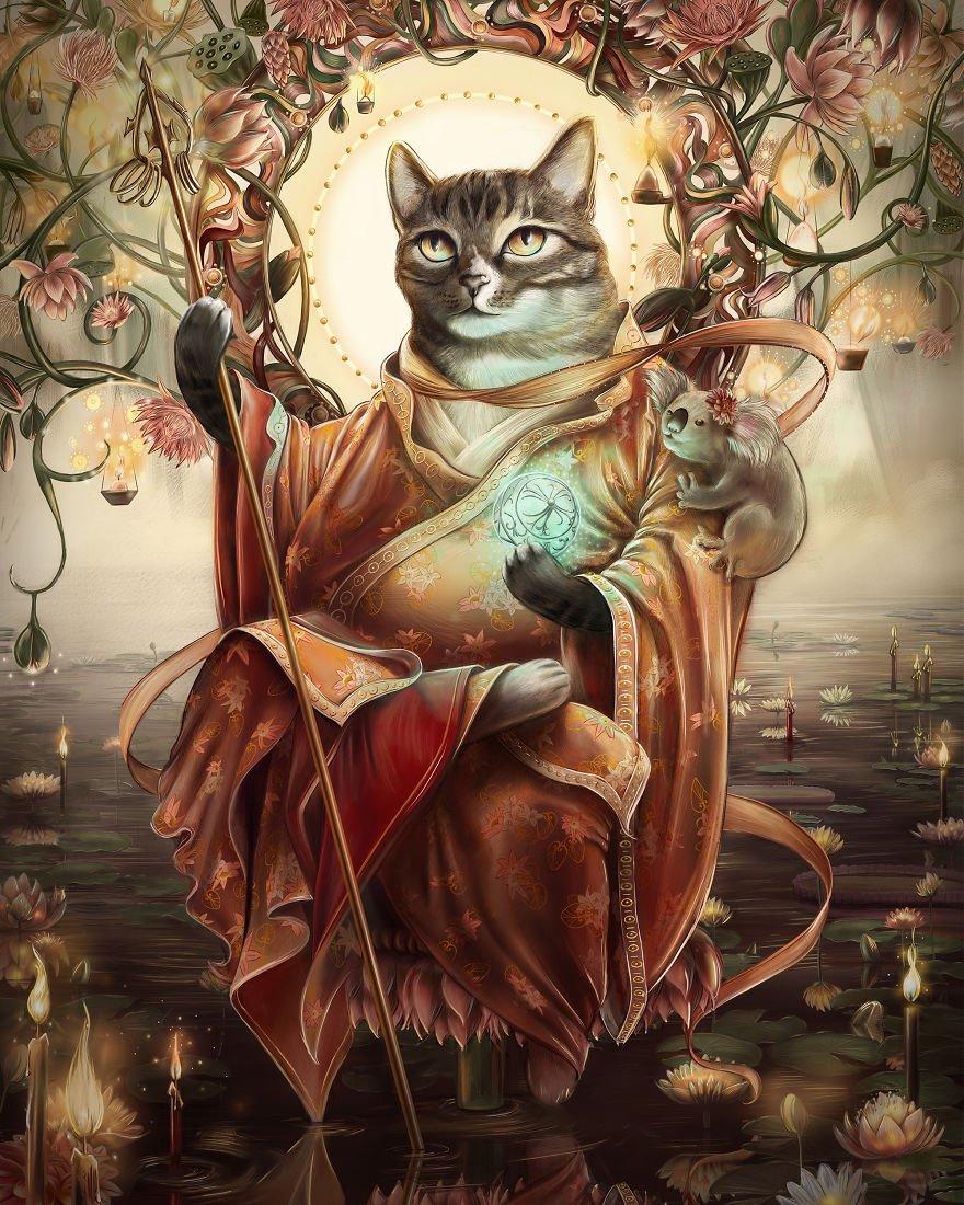 Картинки в виде кота, днем рождения для